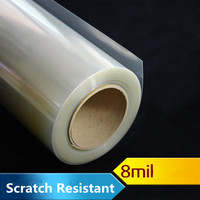 Clear Protective 8mil Vinyl Window Glass Wrap Shatterproof Security Film 1.52m x 8m Roll