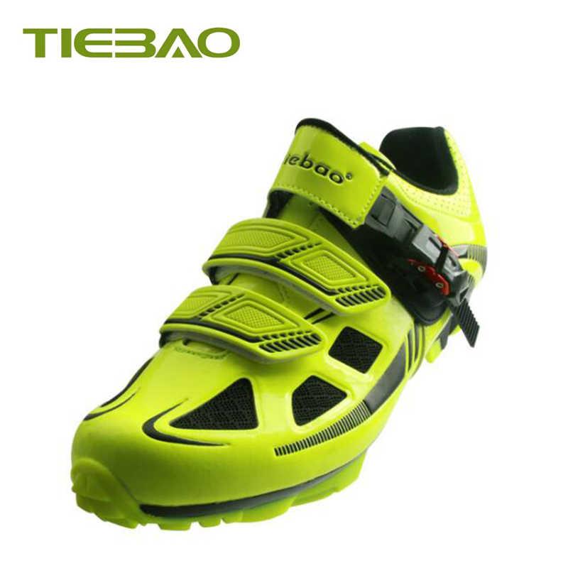 Tiebao Sapatilha Ciclismo MTB spd pedales zapatillas de deporte hombres zapatos de Ciclismo transpirable autoblocante Atlético montar bicicleta de montaña zapatos