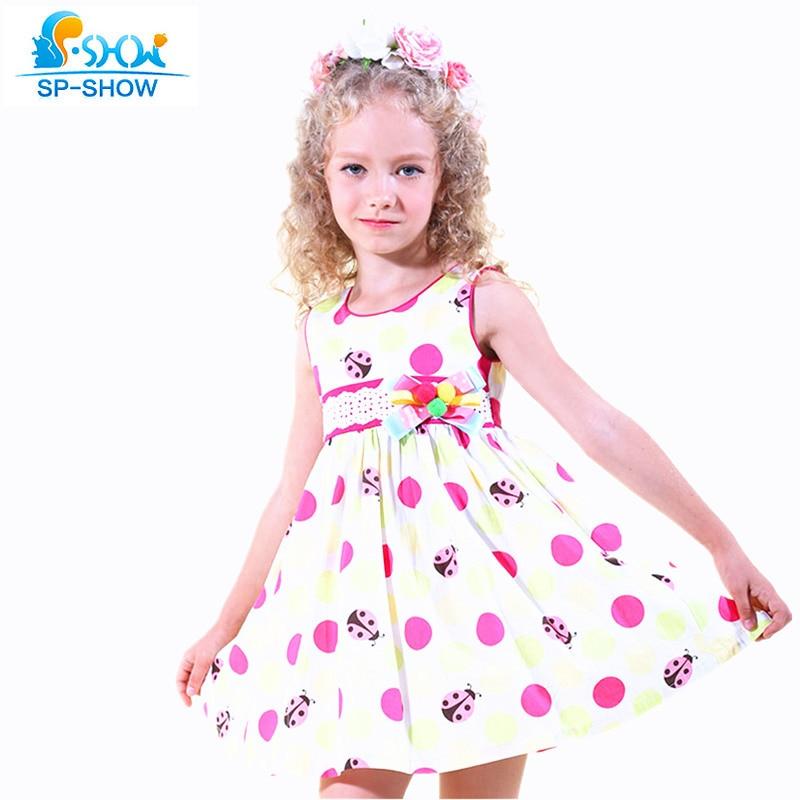 2016 100% Cotton Girls Summer Dress For 5-13 Age Reine Des Neiges Girls Clothes Children Clothing Vestidos Infantis