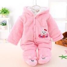 74ab548707550 Hiver infantile vêtements mignon hiver chaud à manches longues corail  polaire infantile chaud épais bébé garçons filles vêtement.