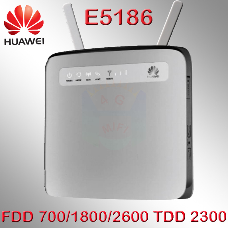 Router 4g Wifi Sim Card 300Mbps Unlocked Huawei E5186 E5186s-61a LTE 4g Wireless Router 4g Mifi Dongle Cpe Car Wifi Router