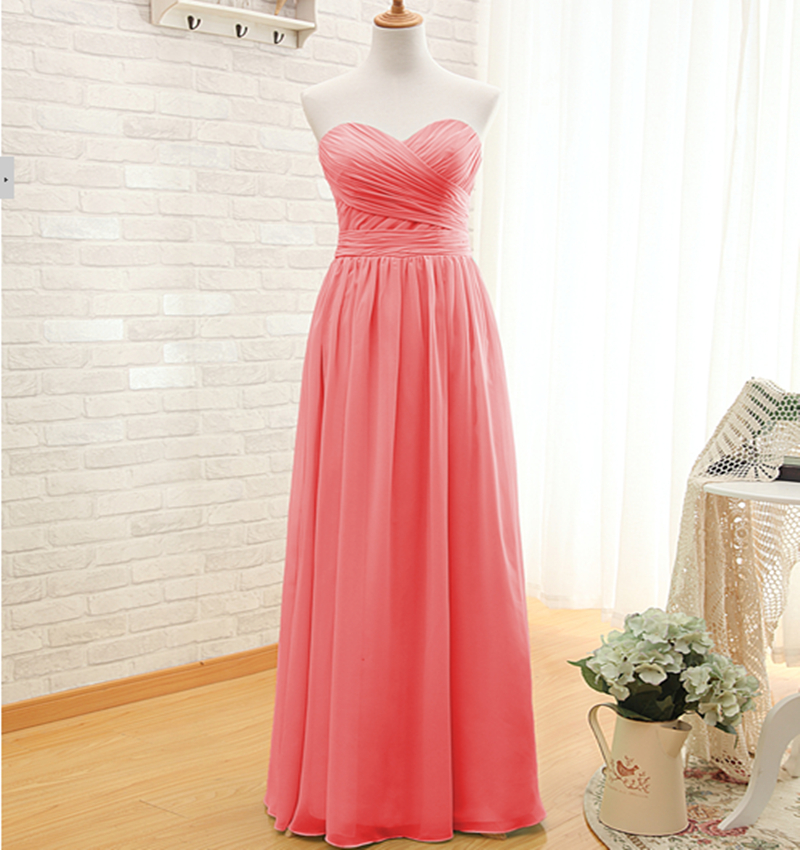 Popular Coral Colored Bridesmaid Dresses-Buy Cheap Coral Colored ...