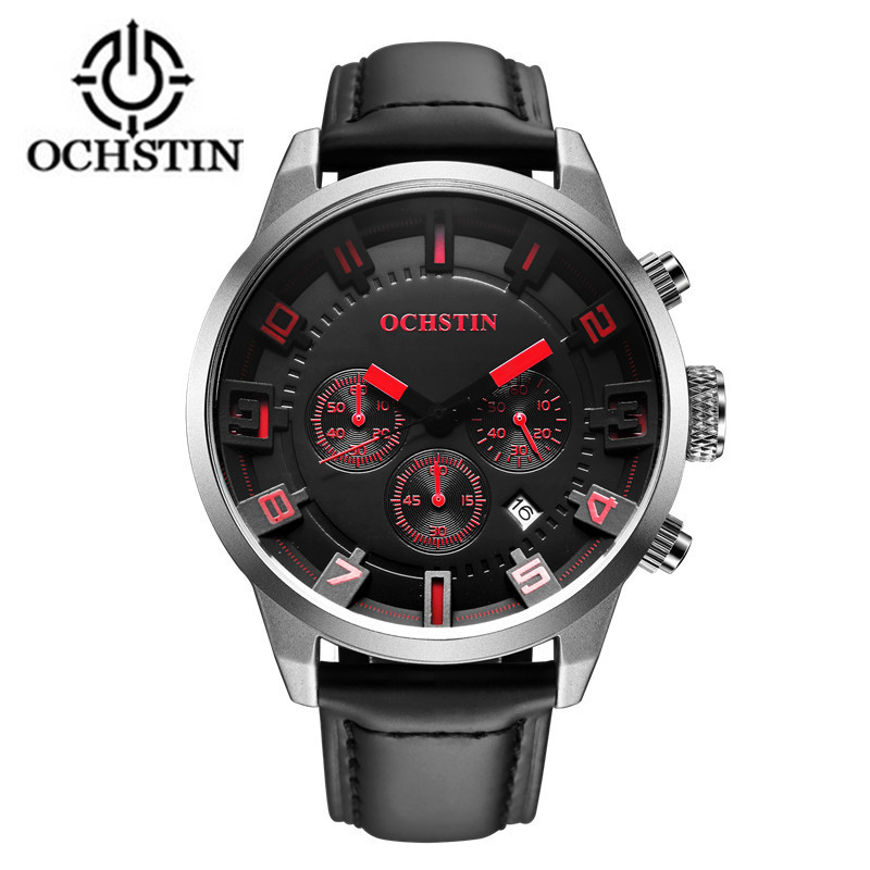 Ochstin Sale New 2017 Sport Watches Military Army Watch Men Luxury Brand Leather Waterproof Male Clock Hour Relogio Masculino weide new men quartz casual watch army military sports watch waterproof back light men watches alarm clock multiple time zone