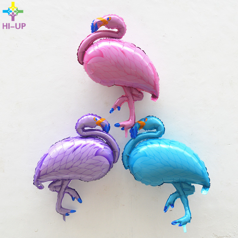 89*69cm Flamingo Foil Balloons Party Supplies Foil Balloons Children Creative Toys Inflatable Helium Balloon Birthday Wedding