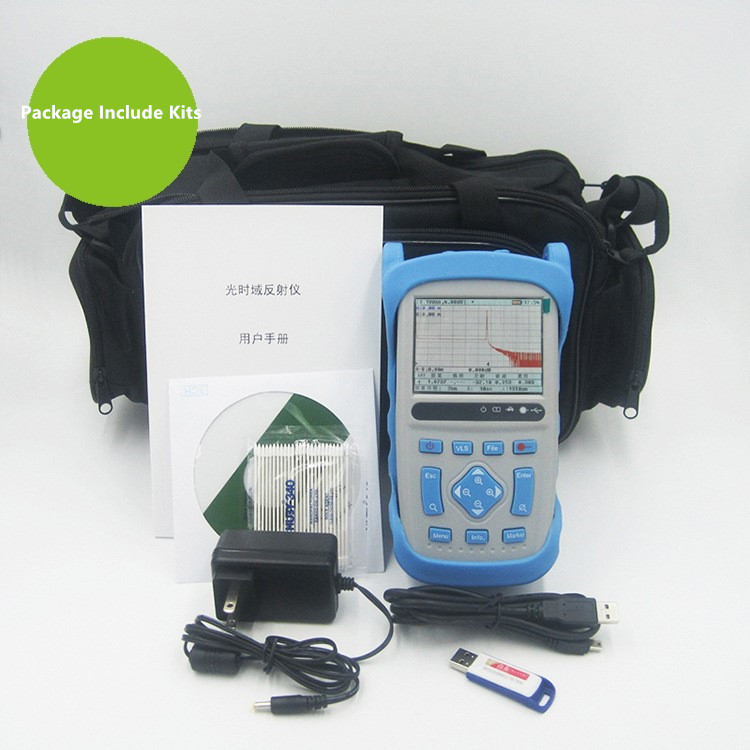 1310 1550nm Fiber Optic OTDR Reflectometer 35 33dB 1 5 8m Dead Zone with Carrying Bag FC SC ST Connectors in Fiber Optic Equipments from Cellphones Telecommunications