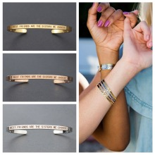 Best Friends Are The Sisters We Choose Friendship Bracelet Cuff Bangle Engraved Gifts for