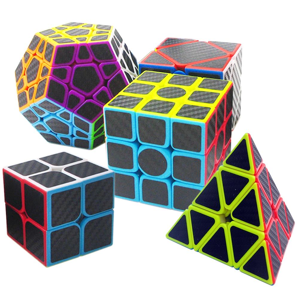 5 pièces/ensemble vitesse 3*3 sur 3 Cube en biais Triangle Megaminx 2x2 3x3x3 Cube magique professionnel pour enfants garçon ZCUBE Cubes 2*2