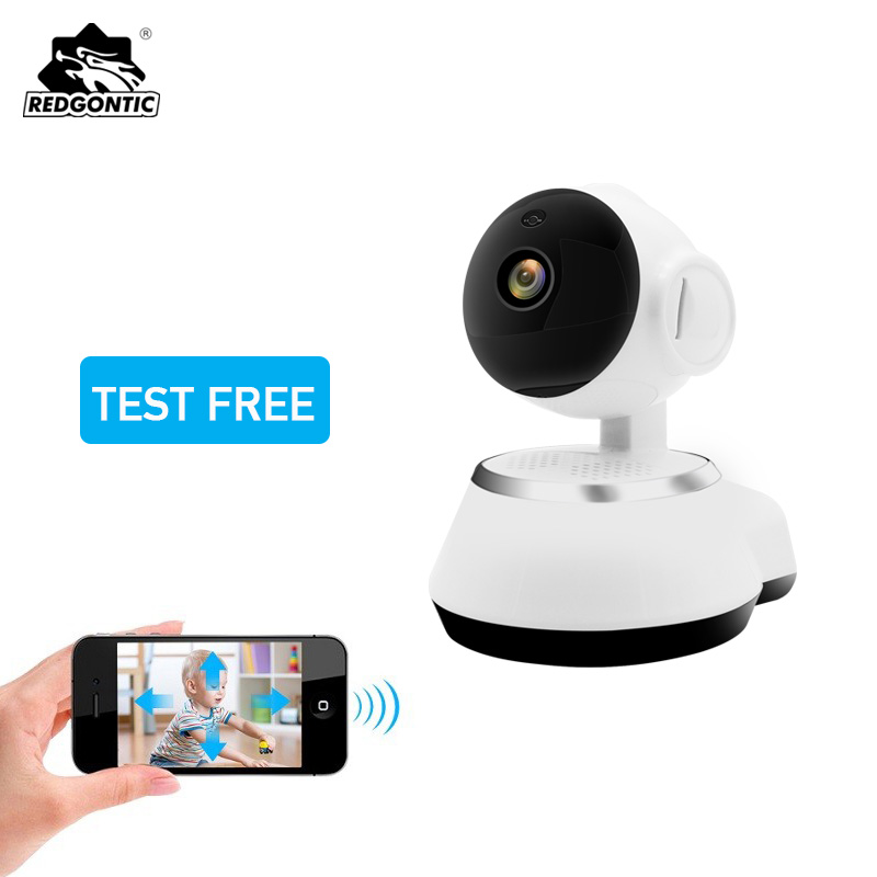 Redgontic Mini WiFi IP Camera Home Security 720P Wireless WI-FI Surveillance Baby Monitor HD CCTV Camera Night Vision SD Card стоимость