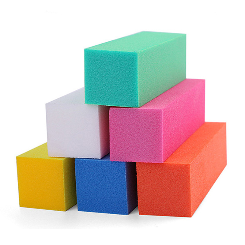 5pcs/lot Colorful Buffing Sanding Nail Buffer Block Files Acrylic Sponge Files Pedicure Manicure Care Nail Art Tips Salon Tools 5pcs lot 6400401 professional pedicure tools