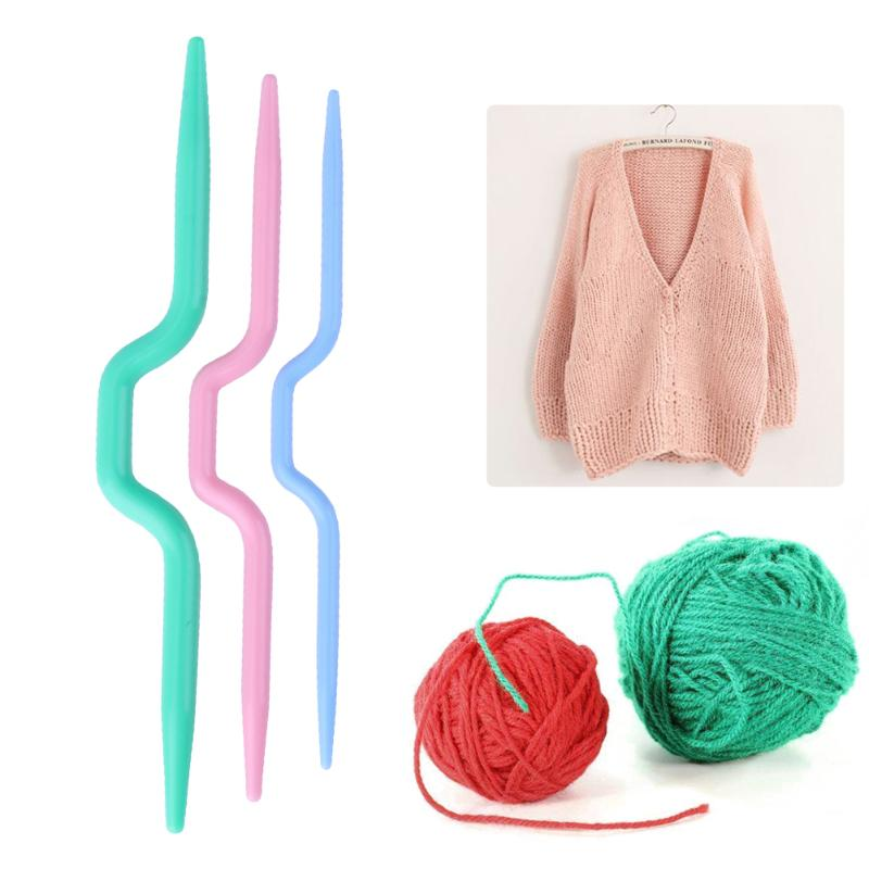 3 size abs plastic knit cable stitch knitting needle smooth crochet hook craft