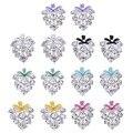 New Fashion Elegant Women Girl Flower Craft Glaze Ear Clip Grape Crystal Rhinestone Cluster Stud Earrings