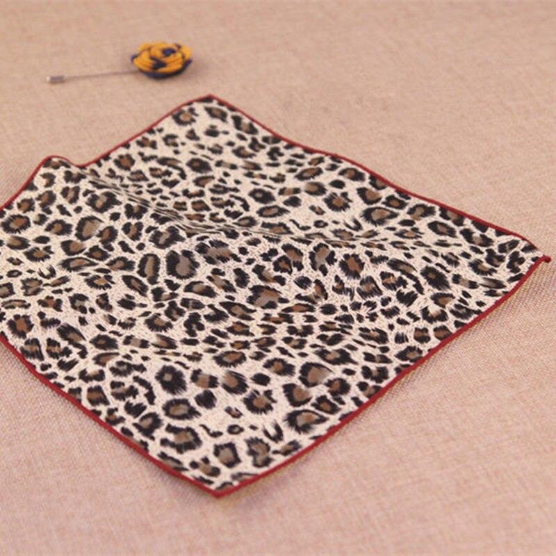 Хлопчатобумажные носовые платки леопард/тигр рисунок в полоску карманные квадратные мужские костюмы великолепные хлопчатобумажные носовые платки полотенца 24 см* 24 см - Цвет: 012