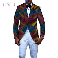 New African Clothes for Men Fashion Leisure Coat African Man Dashiki Batik Wax Printing Blazer African Ankara Mens Blazer WYN488