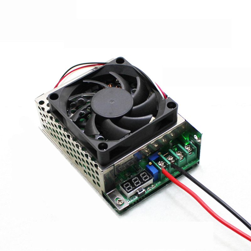 ФОТО High Power 600W DC-DC Step-up Power Module + Digital Power Display + Cooling Fan 12-60V Up 14-80V 10A