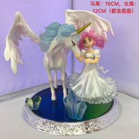 Anime Figure 14CM Sailor Moon Super S Chibi Usa Helios PVC Action Figure Toy Collectible Model