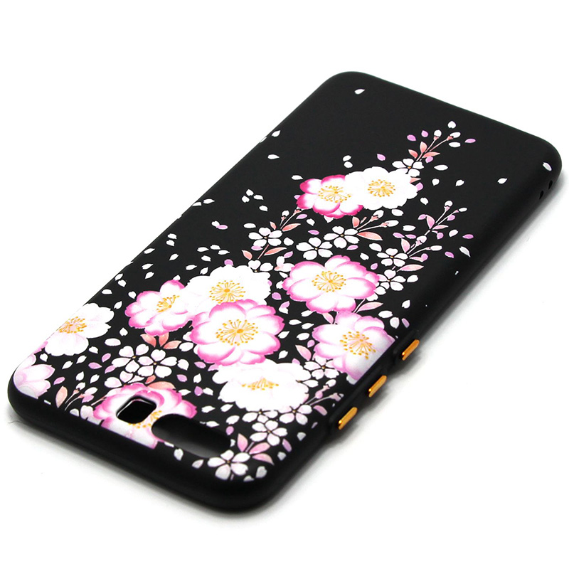 3D Relief flower silicone  case huawei p10 (32)