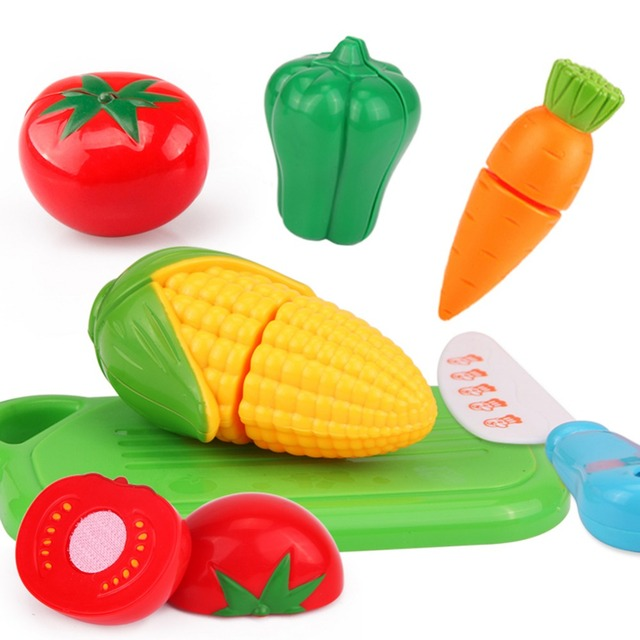 6 Stücke Lebensmittel Obst Gemüse Schneiden Pretend Spielen Spielzeug Kinder  Küche Spielzeug Setzt Obst Gemüse Lebensmittel