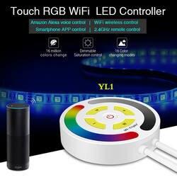 MiLight Touch RGB светодио дный-Fi управление Лер DC12-24V Управление по Amazon Alexa голос/2,4 г дистанционного/смартфон приложение для RGB светодиодные ленты