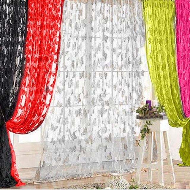 Brand Design Tassel Window Decor Heart Shaped String Door Curtains Romantic  Thin Voile High Quality Free Shipping DN909