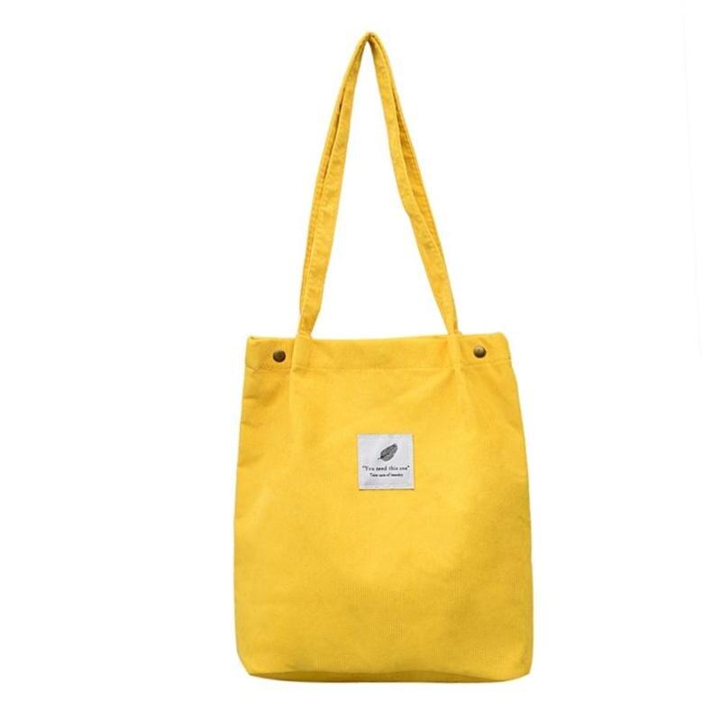 e58ed150cd Casual women s bag Corduroy Totes Sling Shopping Bag for women 2018 ...
