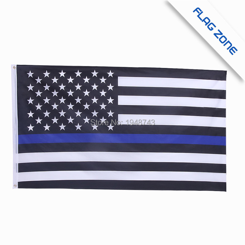 BlueLine usa Police Flags, 3 By 5 Foot Thin Blue Line USA Flag Black, Red line flag, With Brass Grommets Epacket Drop Shipping