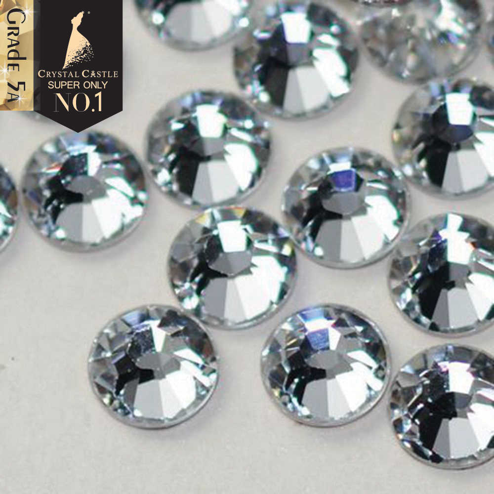 019311412a49a1 Detail Feedback Questions about Crystal Castle Rhinestones Hot Fix Best 5A  Clothes Strass Hotfix Back Glue White AB Stones and Crystals Diy Rhinestone  for ...
