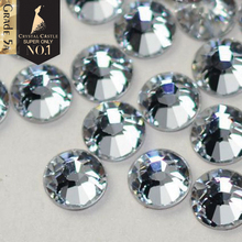 Crystal Castle Rhinestones Hot Fix Best 5A Clothes Strass Hotfix Back Glue White AB Stones and Crystals Diy Rhinestone for Shoes
