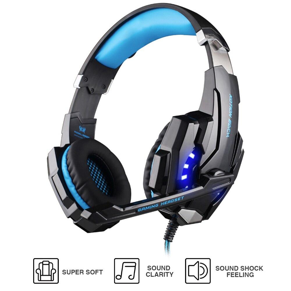 KOTION JEDER G9000 Gaming Headset 3,5mm Wired Stirnband Kopfhörer W/LED Licht Mic Stereo Spiel Kopfhörer Für Computer PC PS4 Gamer