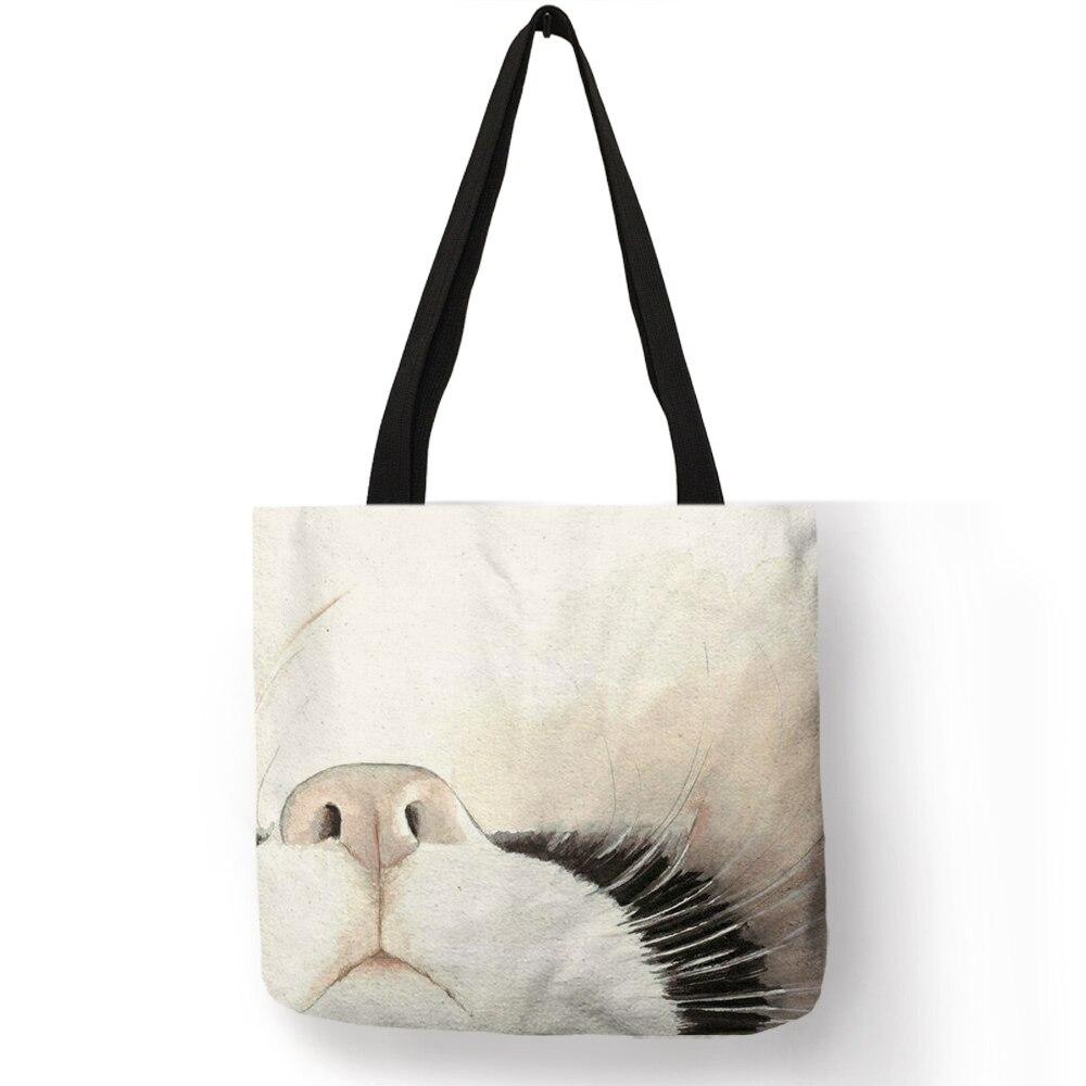 Sloths Faces Canvas Tote Bag Handbag Purse for Women