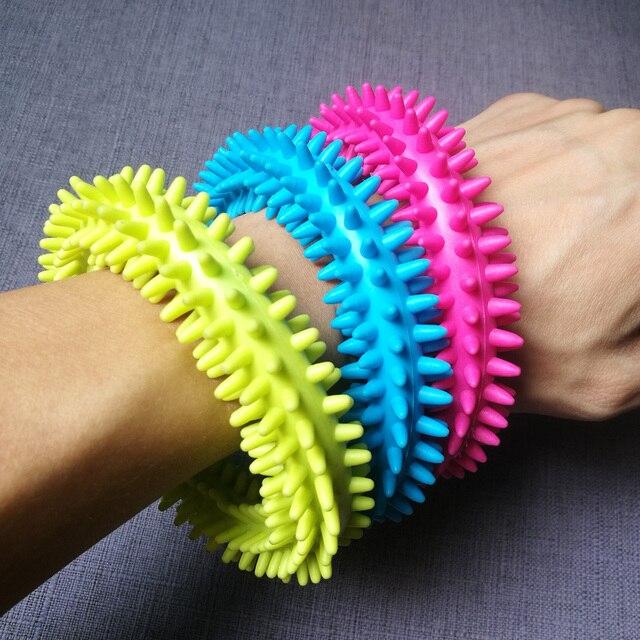 Игрушечный браслет для снятия стресса Spiky Sensory Fidgit игрушка при аутизме СДВГ тревога тихий кольцо с надписью
