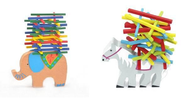 baby wooden balancing blocks/ horse Animal wood assemble toys /Kids Child Balance beam/ educational toys ,Free shipping box