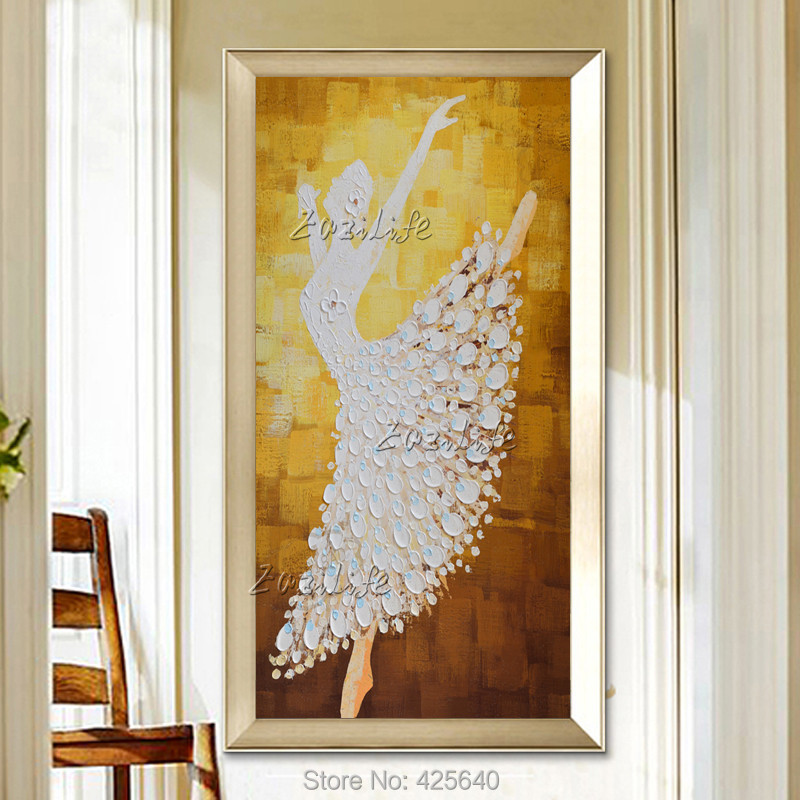 Oil painting On Canvas Ballet Dancer Wall Pictures Large Abstract Wall Art Palette font b Knife