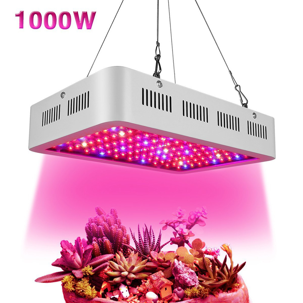 Led Grow Lights 1000W Full Spectrum Grow Lights Double Chips Growing Lamp for Indoor Plants Greenhouse Hydroponic Veg and Flower best led grow light 600w 1000w full spectrum for indoor aquario hydroponic plants veg and bloom led grow light high yield