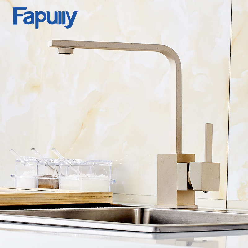 Fapully Kitchen Faucet 360 Rotate Swivel Cold and Hot Water Mixer Tap Single Handle for Kitchen Tap Water 360 rotate copper chrome swivel kitchen faucet mixer cold and hot silver single hole handle kitchen water tap