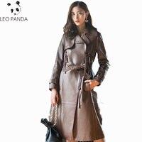 Superior quality Genuine Leather Jacket Women Autumn Clothes 2018 Korean Long Coat Windbreaker Slim Sheepskin Coat Trench Coat
