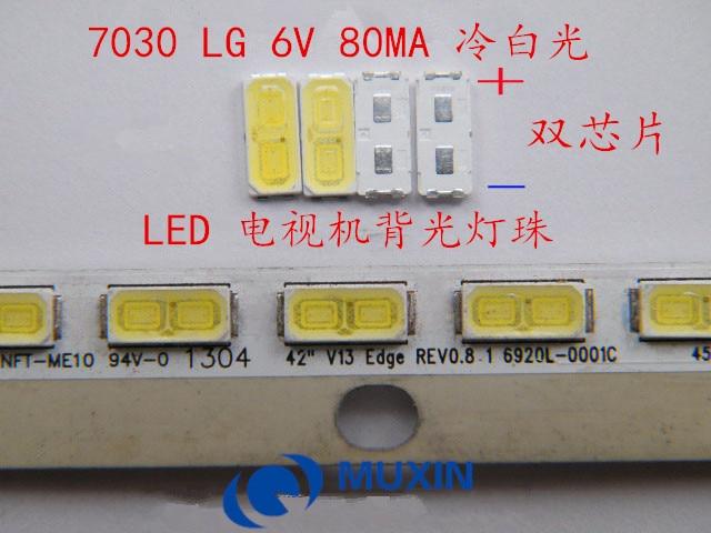100Pcs 6030 SMD Lamp Beads 80mA  for Sony//Toshiba LED TV Backlight Strip Bar
