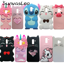 For Samsung Galaxy J8 J810 (2018) 3D Cartoon Soft Silicone Case Phone Back Cover Skin Shell Fundas