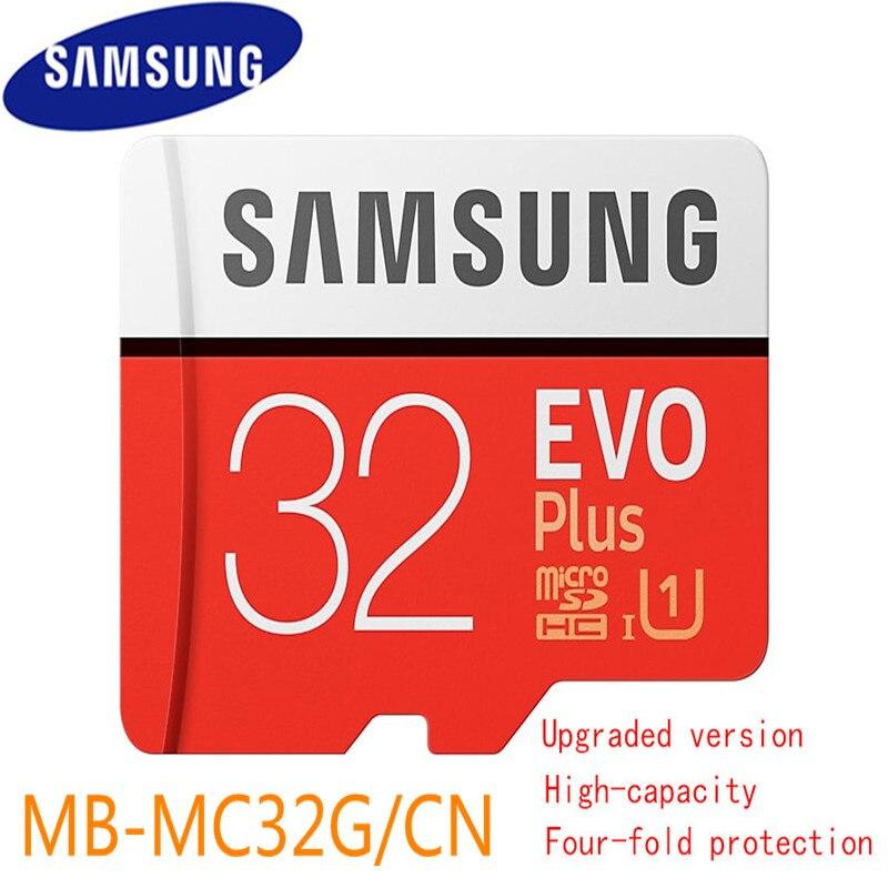 Samsung Evo Mais 32gb Sdhc Cartão Micro Sd Uhs Sdxc Classe Evo + Classe 10 C10 Cartões Tf Trans de Flash Microsd Originais