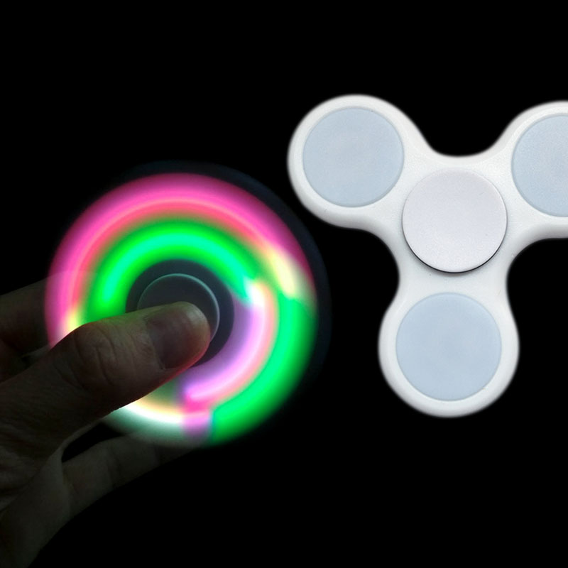 LED Light Fidget Spinner Finger ABS EDC Hand Spinner Tri For Kids Autism ADHD Anxiety Stress Relief Focus Handspinner B0158
