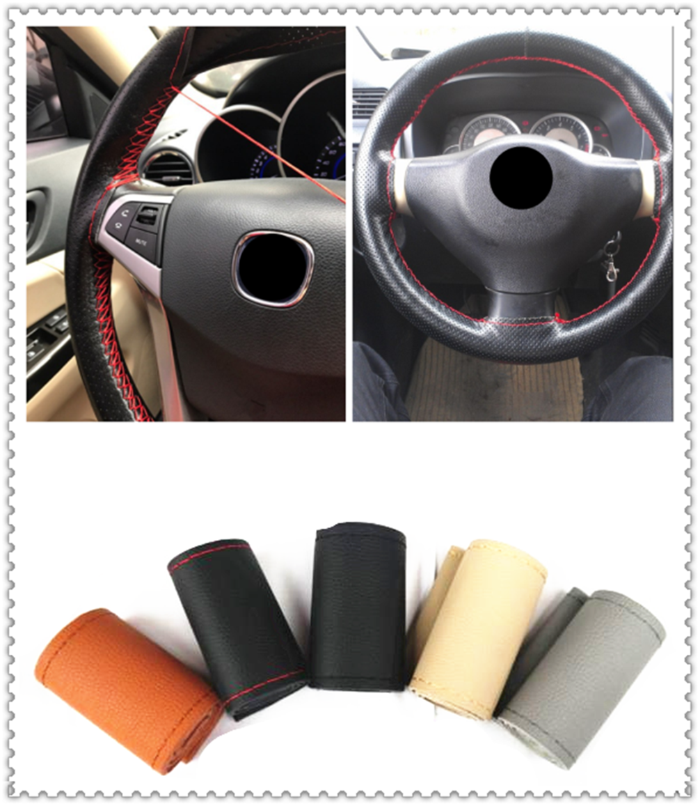 New <font><b>car</b></font> interior hand sewing steering <font><b>wheel</b></font> cover protection for <font><b>Kia</b></font> <font><b>Sportage</b></font> Sorento Sedona ProCeed Optima K900 image