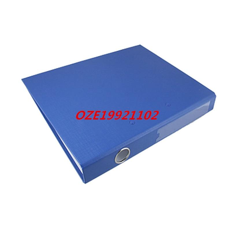1PCS Blue Carboard A4 Spring Loaded Lever Clip File Folder