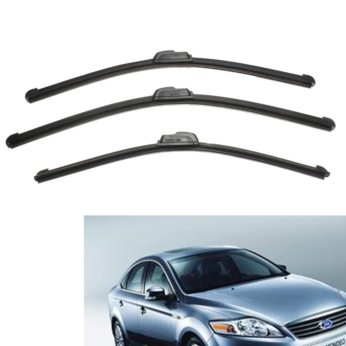 Front rear wiper blade set windscreen windshield for ford for mondeo mk3 2000 2007