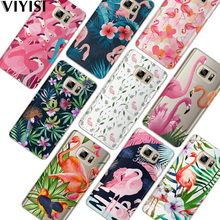 VIYISI For Samsung Galaxy s8 A5 2017 Case S9 Plus Phone case Coque J7 J5 J3 A5 A3 2015 2016 2017 S6 S7Edge Flamingo Fundas Cover все цены