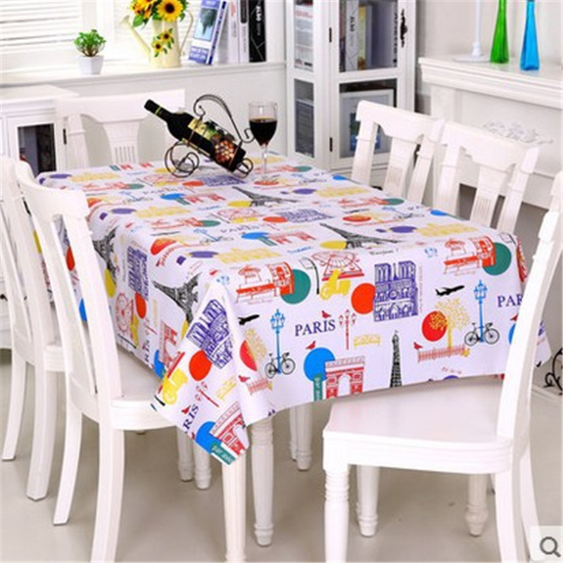 PVC Tablecloth For Rectangular Table Cloth European Antifouling Decor Tablecloths Waterp ...