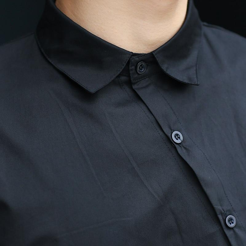 Noir Décontractée 2016 Costumes De Longues Personnalité Chemise Manches Irrégulière Hommes Masculine À Chanteur Mâle D'été Nouveaux Vêtements aUaqr7w