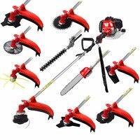 Multi 52CC 2 strokes 10 in 1 Multi brush cutter grass trimmer lawn mower tree pruner tool garden work