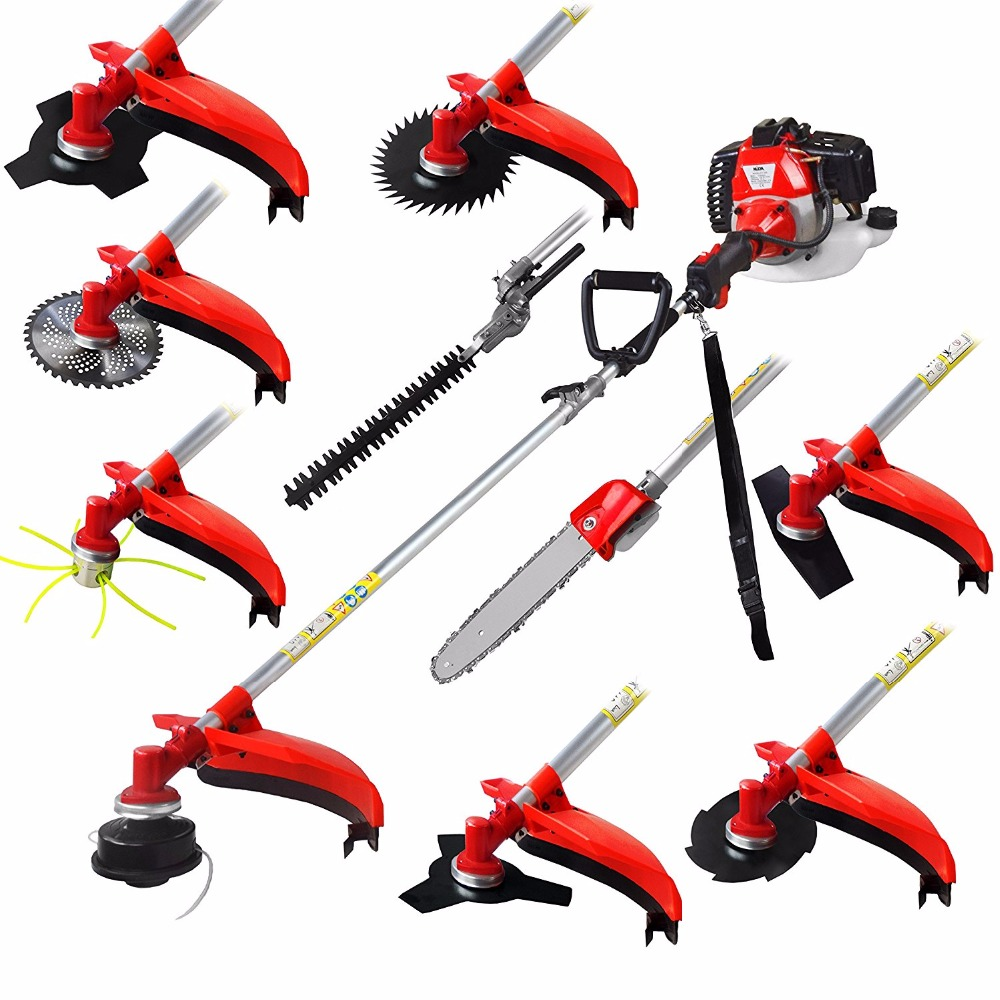 Multi 52CC 2-strokes 10 In 1 Multi Brush Cutter Grass Trimmer Lawn Mower Tree Pruner Tool Garden Work