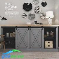 Carbon Steel Interior Cabinet Mini Barn Sliding Door Hardware