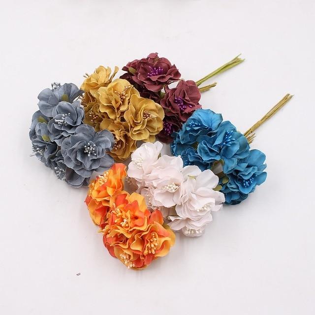 6pcs 4cm silk sakura artistic small poppy flower bouquet wedding 6pcs 4cm silk sakura artistic small poppy flower bouquet wedding decoration diy wreath gift scissor craft mightylinksfo