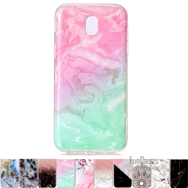timeless design 3c911 04fb5 Silicone Case For Samsung Galaxy J3 2017 Retro Marble Pattern Design  Texture Soft Cases Cover coque For Samsung J5 (2017) J7